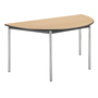 Semi-circular table Comfort chromed undercarriage