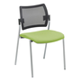 Chair Yota back rest in black mesh structure aluminium legs