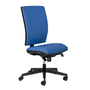 Office chair back and seat in fabric Bruneau Activ' - Permanent contact